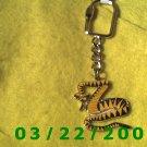 "1 1/4 x 4 1/2"" Gold Key Ring w/Snake  (R001)"