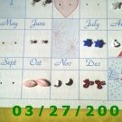 Card with 8 pair of childs pierced earrings (008)