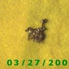 Brass Cowboy Bucking Bronc Charm  (035)