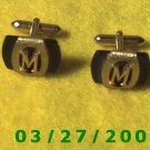 "Gold n Black Cuff Links ""Swank""    (022, 032)"
