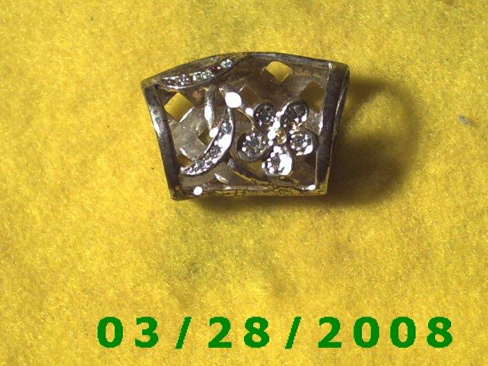 Silver Scarf Tie (062)