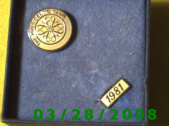 "Gold Avon Pin ""The Presidents Club"" 1981  (018)"
