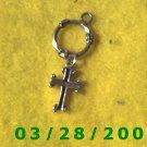 .925 Silver Cross Charm  (029)