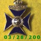 Gold & Blue Cross wear as Pin or Medallion  (030)