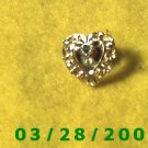 Gold w/green stone Lapel Pin  (031)