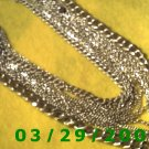 "22"" 16 Strand Silver Necklace (006)"