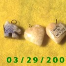 3ea Stone Heart Charms  (004)