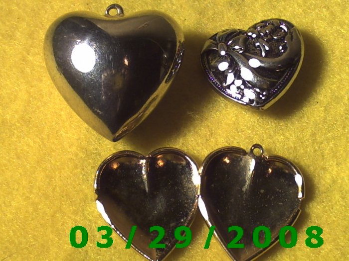 3ea Heart Charms  (006)