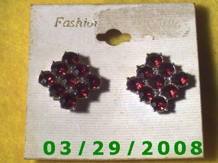 Ruby Earrings Clip On