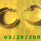 "1 3/16"" Silver Hoop Pierced Earrings (027)"