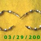"""1 3/16"""" Silver Hoop Pierced Earrings (028)"""