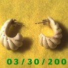 Ivory Pierced Earrings (007)