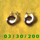 Gold n Blue Pierced Earrings  (028)