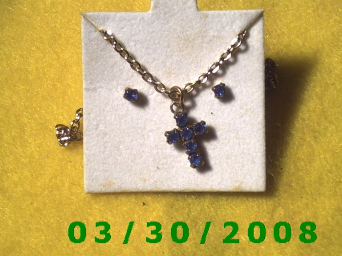 December Birthstone Necklace and Earrings Set Turquoise(010)