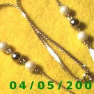 Gold Necklace w/Pearls     E5015