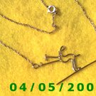 Gold Necklace w/Skier    E5019