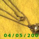 Gold Necklace w/Pendant    E5023