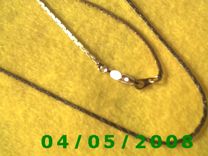 Gold Necklace    E5027