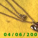 Gold Necklace w/Charm     E5036