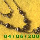 Silver Necklace w/Charm     E5037