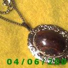 Silver Necklace w/Medalion     E5040