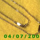 Gold Necklace w/Beads     E5043