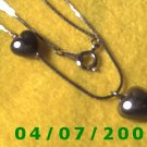 Gold Necklace w/Hearts     E6004