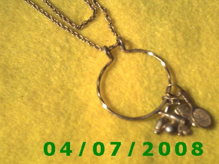 Gold Necklace w/Charms (Avon)      E6005