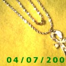 Gold Necklace w/Cross     E6014