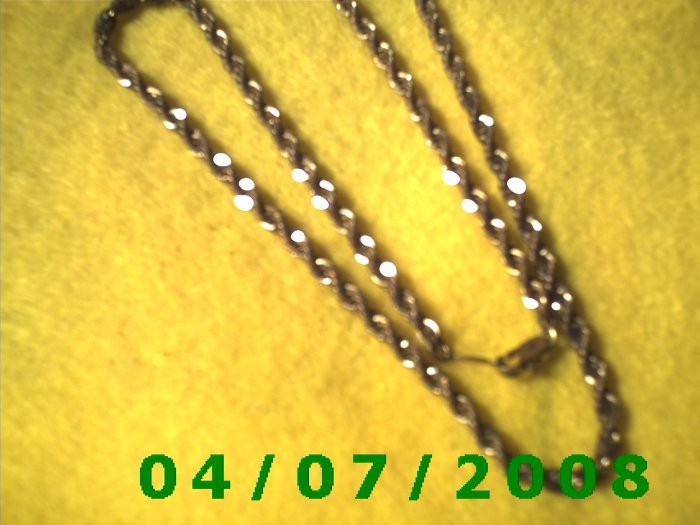 Gold Necklace     E6018