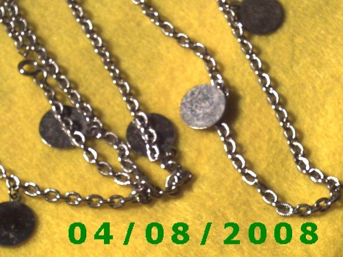 Silver Necklace w/Charms      E6021