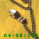 Silver Necklace w/Charms w/Hand     E6022