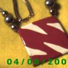 "Gold Necklace w/2 3/8"" Square Charm     E6023"