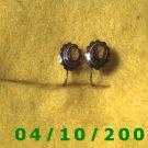 Silver Pierced Earrings w/Pink Stone    Q001