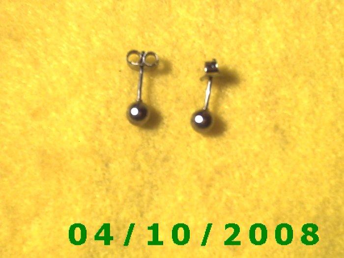 Silver Pierced Earrings     Q002