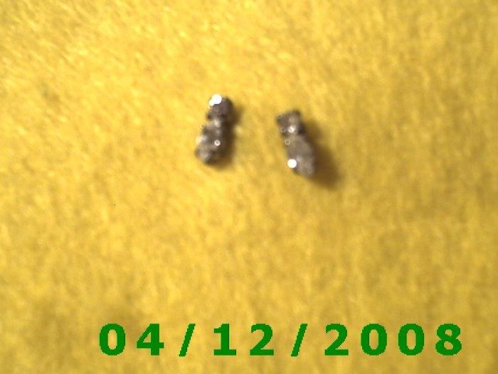 Silver Rhinestones Pierced Earrings     Q1002