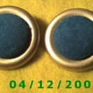 Gold and Blue Pierced Earrings     Q1017