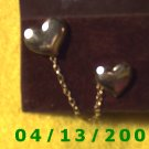 Chain and 2 Hearts Silver Vintage Hat Pins          Q2004