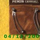 Rhinestone Silver Earrings          Q2005