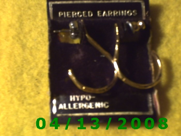 Gold Pierced Earrings        Q2015