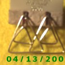 Triangles Gold Filled Pierced Earrings     Q2010