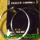 Hoop Silver Pierced Earrings      Q2022