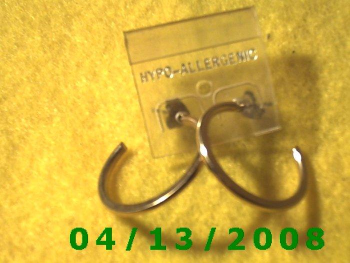 Hoop Gold Pierced Earrings     Q2026