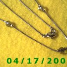 Silver Necklace w/Clear Beads     E3014
