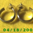 Silver Hoop Pierced Earrings    Q3018