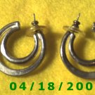 Silver Hoop Pierced Earrings    Q3031
