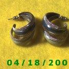 Silver Hoop Pierced Earrings    Q3032