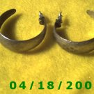 Silver Hoop Pierced Earrings    Q3036