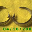 Silver Hoop Pierced Earrings    Q3040