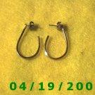 Gold Hoop Pierced Earrings    Q3044